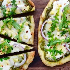 Grilled Flatbread Pizzas with Avocado Pesto Recipe