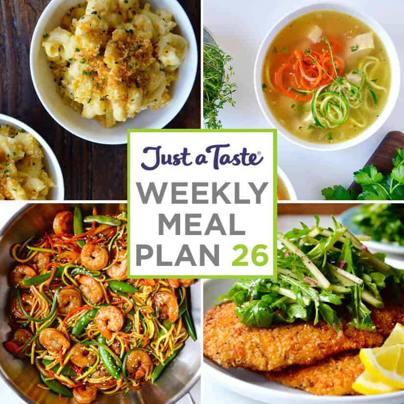 Weekly Meal Plan 26 and Shopping List