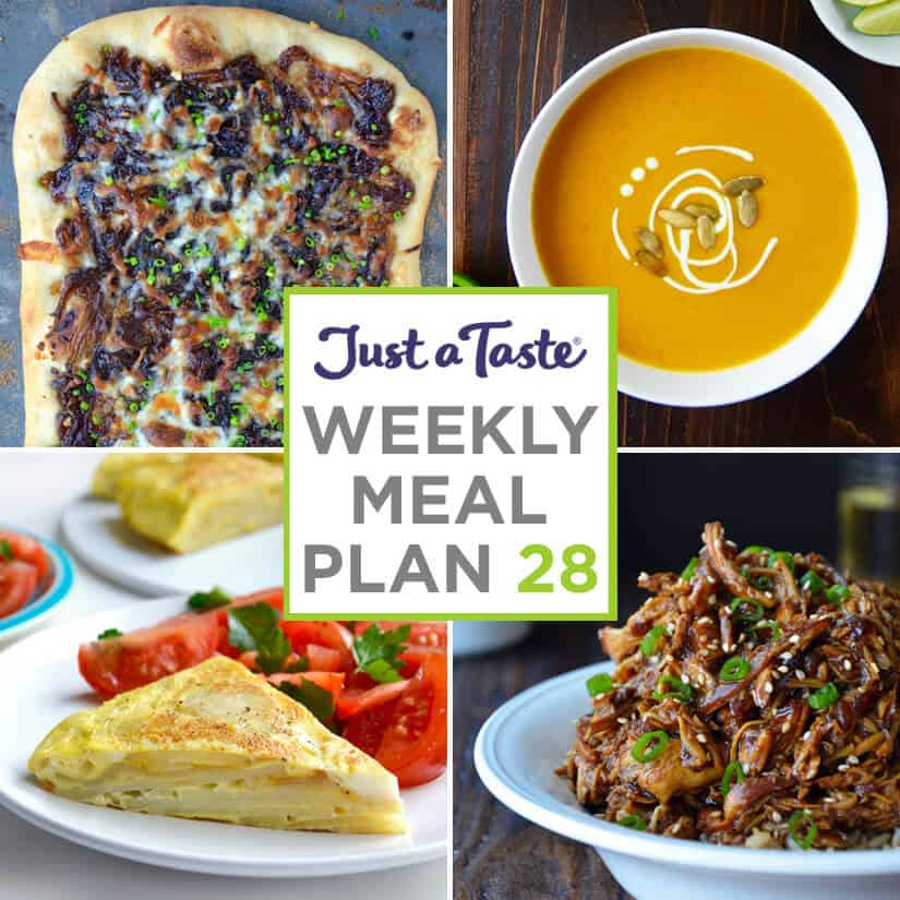 Weekly Meal Plan 28 and Shopping List