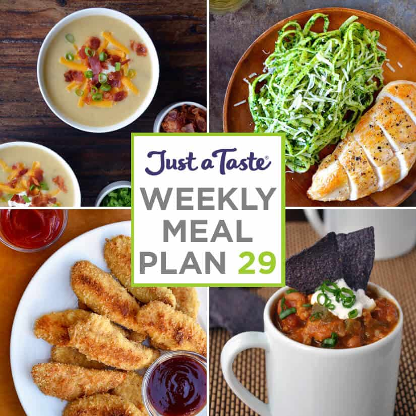 Weekly Meal Plan 29 and Shopping List
