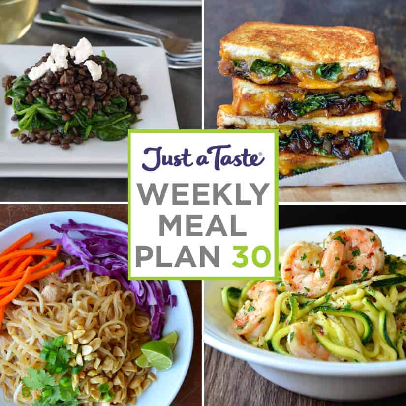 Weekly Meal Plan 30 and Shopping List