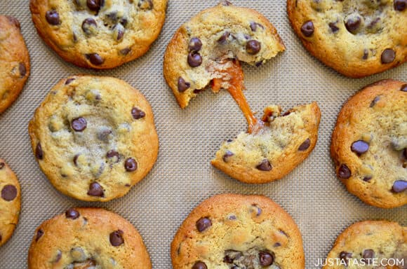 Caramel-Stuffed Chocolate Chip Cookies Recipe