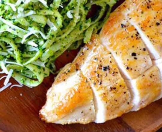 FRIDAY: Pumpkin Seed Pesto Pasta with Chicken