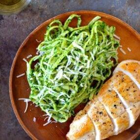 Pumpkin Seed Pesto Pasta with Chicken