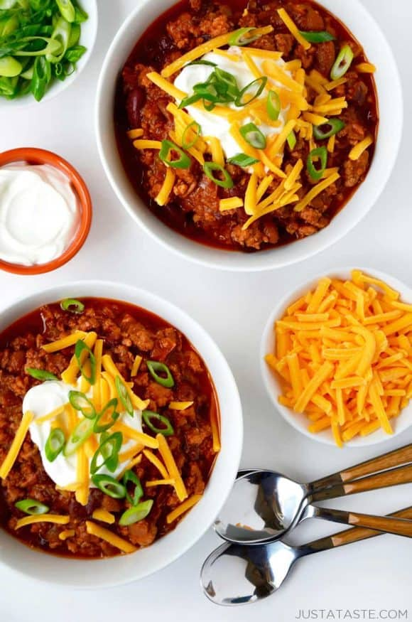 Slow cooker chicken chili just a taste slow cooker chicken chili recipe forumfinder Image collections