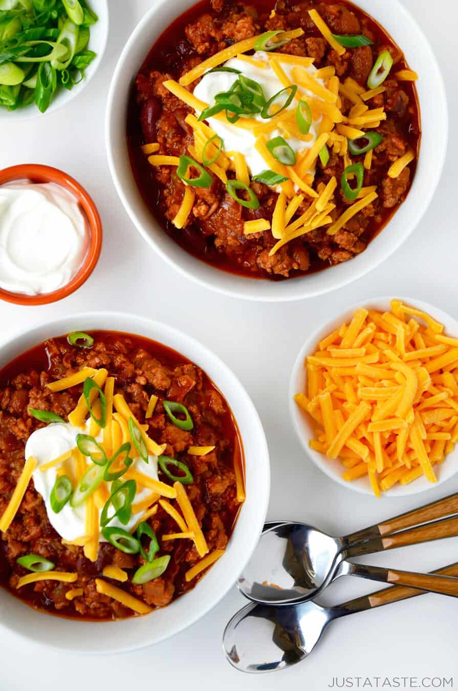 Slow Cooker Chicken Chili Just A Taste