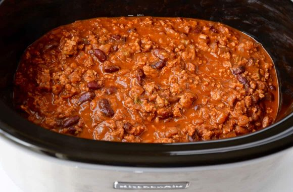 Slow cooker chicken chili just a taste pin it slow cooker chicken chili recipe forumfinder Gallery