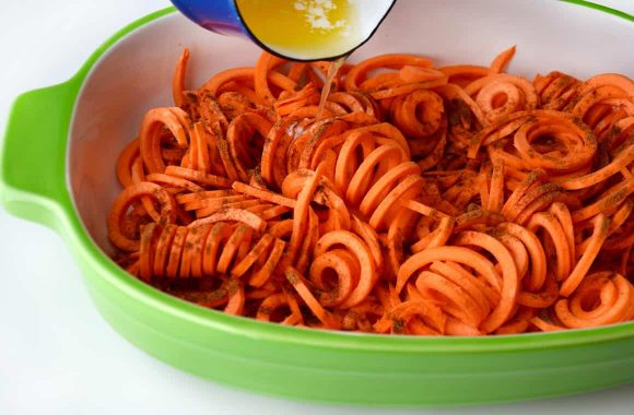 Spiralized Sweet Potato Noodle Casserole Recipe