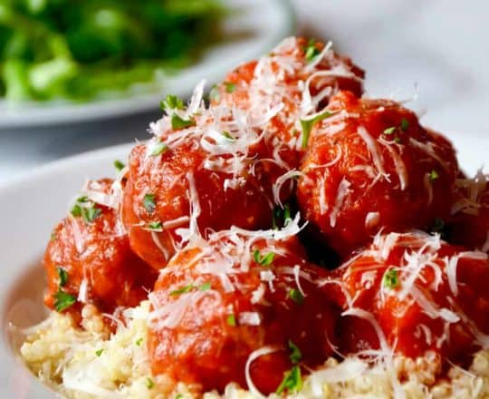 Baked Turkey Meatballs with Quinoa Recipe