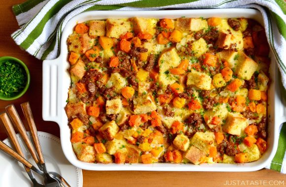 Make-Ahead Breakfast Casserole with Sausage Recipe