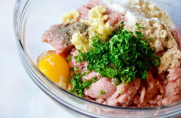 Baked Turkey Meatballs with Quinoa Recipe