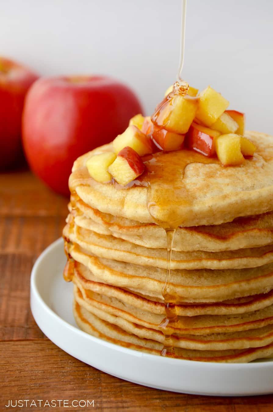 Cinnamon Applesauce Pancakes Just A Taste
