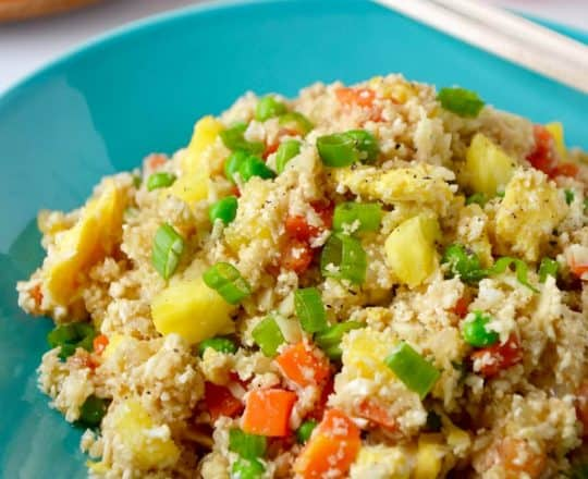 "Cauliflower Fried ""Rice"" with Pineapple Recipe"