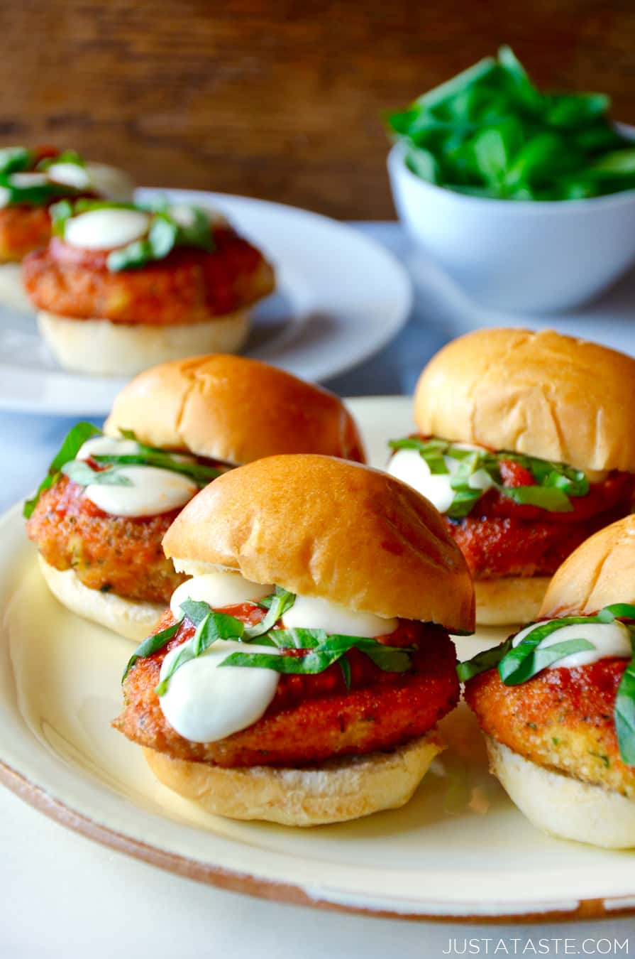 Easy Chicken Parmesan Sliders Just A Taste