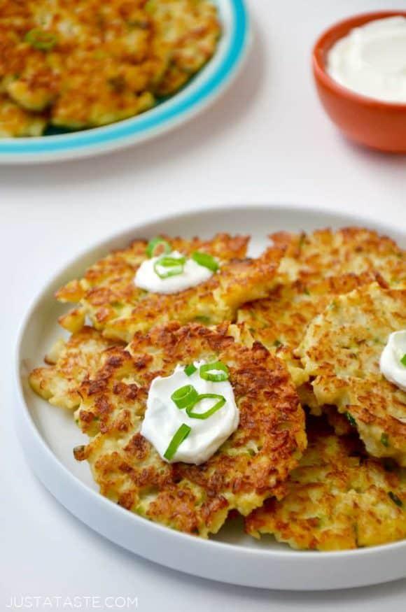 Healthy Cauliflower Fritters | Just a Taste