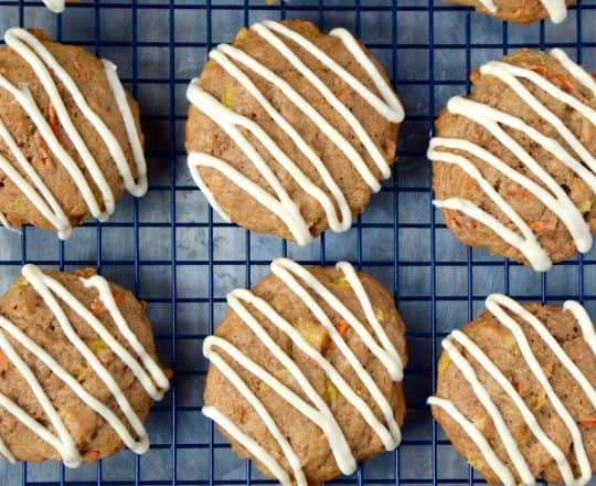 Carrot Cake Cookies with Cream Cheese Icing Recipe