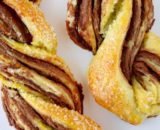 Chocolate Puff Pastry Twists Recipe