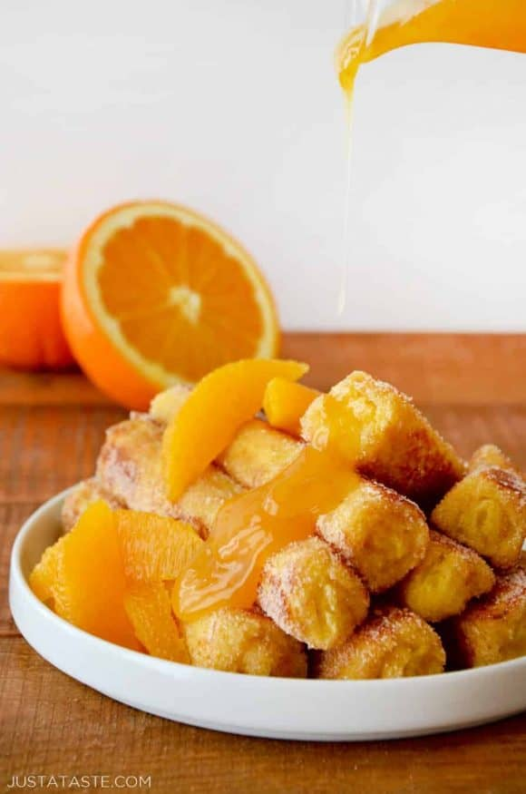French Toast Roll-Ups with Orange Syrup Recipe