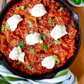 Easy Skillet Lasagna Recipe