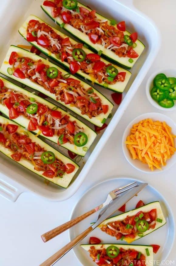 Healthy Taco Zucchini Boats Recipe
