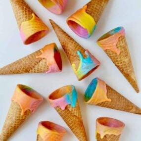 Unicorn Ice Cream Cones Recipe