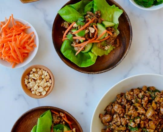 30-Minute Chinese Chicken Lettuce Wraps