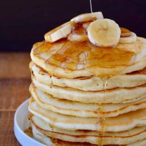 Banana Sour Cream Pancakes Recipe