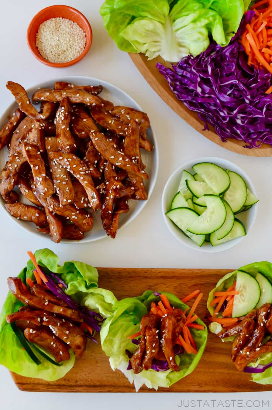 Chinese Chicken Lettuce Wraps | Just a Taste