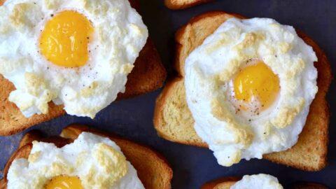 Cloud Eggs on Toast | Just a Taste