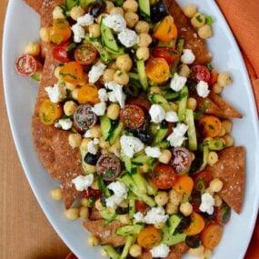 Fresh Greek Nachos Recipe