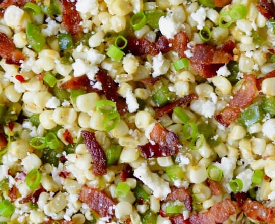 Garlicky Skillet Corn with Bacon Recipe