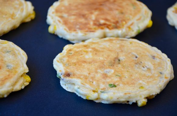 Sweet Corn Pancakes with Bacon Recipe