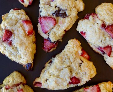 Sour Cream Strawberry Scones