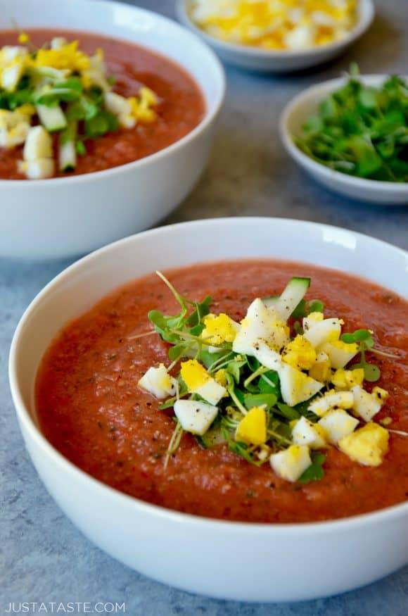 fast and fresh gazpacho just a taste