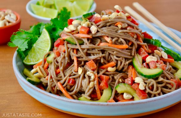 Soba Noodle Salad with Peanut Dressing Recipe