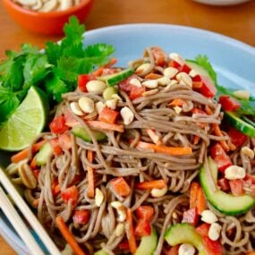 Soba Noodle Salad with Peanut Dressing RecipeSoba Noodle Salad with Peanut Dressing Recipe