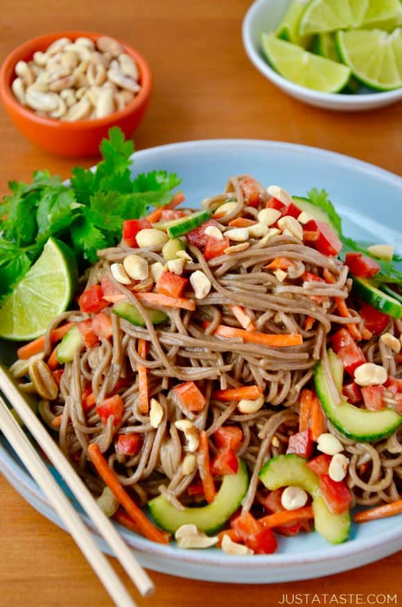 Soba Noodle Salad with Peanut Dressing RecipeSoba Noodle Salad with Peanut Dressing Recipe