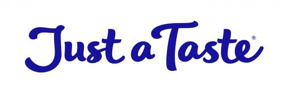 The Just a Taste logo in purple color