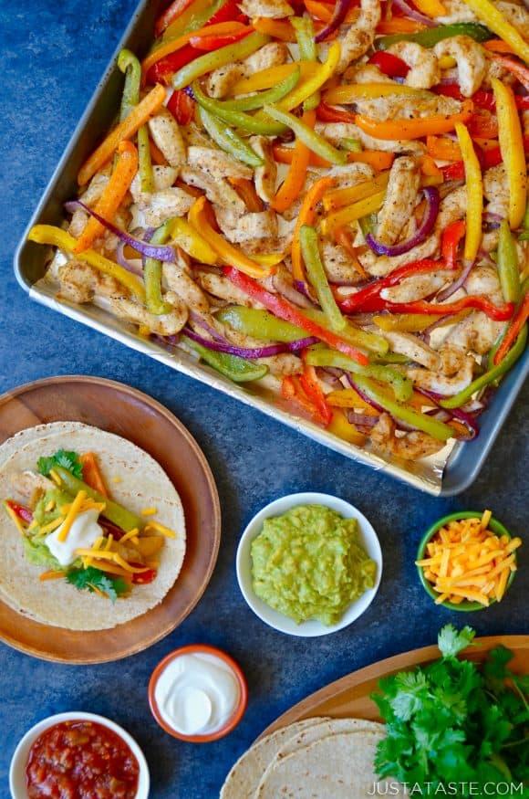 Sheet Pan Chicken Fajitas | Just a Taste