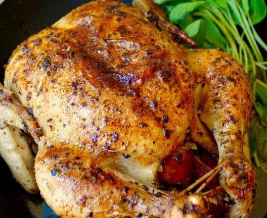 Apple and Sage Roast Chicken