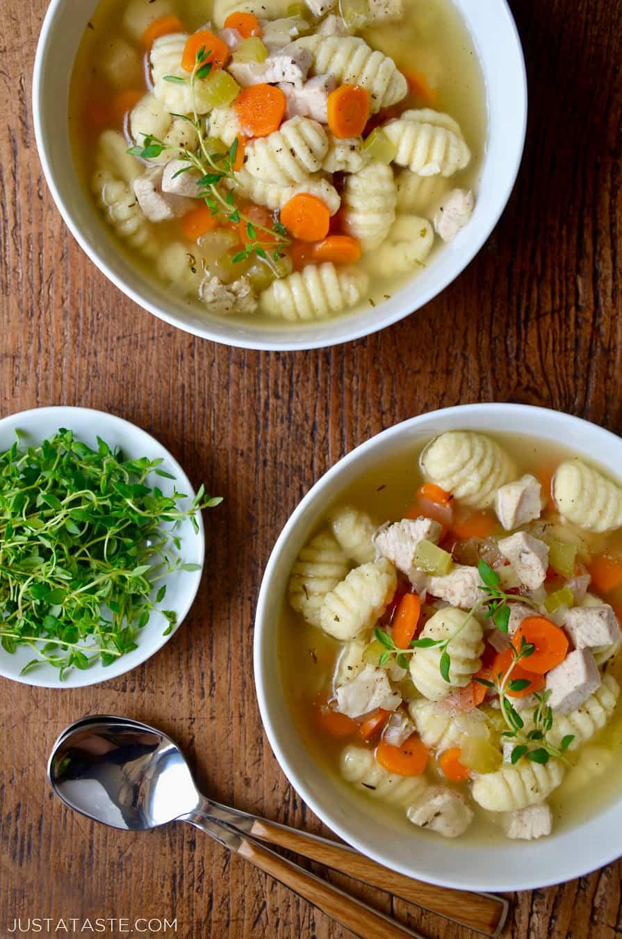 Easy Gnocchi Chicken Soup Just A Taste