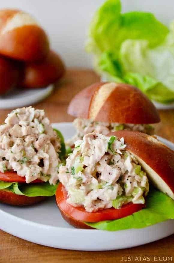 The Best Leftover Turkey Salad Just A Taste