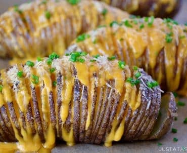 Easy Cheesy Hasselback Potatoes