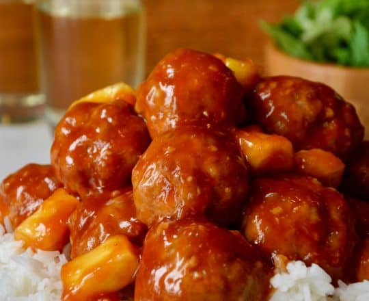 Baked Sweet and Sour Meatballs