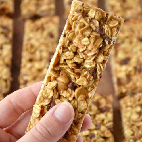 homemade peanut butter granola bars just a taste