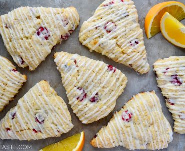 Glazed Orange Cranberry Scones