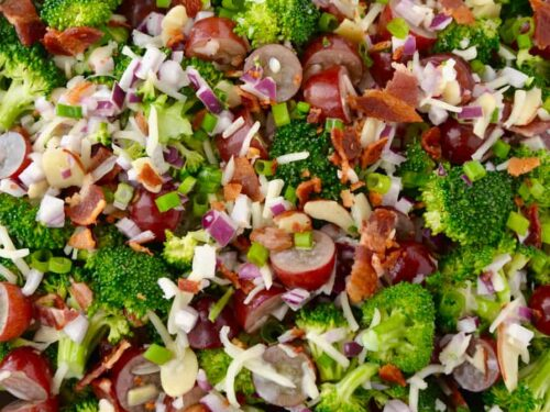 The Best Broccoli Salad With Bacon Just A Taste