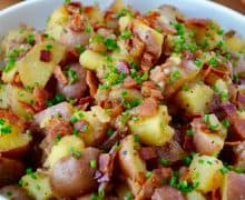 Potato Salad with Warm Bacon Dressing