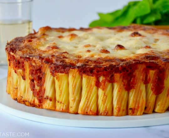 Easy Cheesy Rigatoni Pie