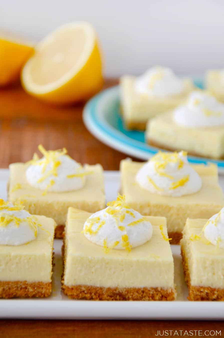 Easy Lemon Cheesecake Bars Just A Taste